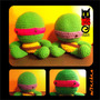 Tortuga Ninja Batman Hombre Araña Tejido Crochet Amigurumi