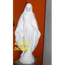 Escultura Estatua Virgen Milagrosa De Cemento Blanco