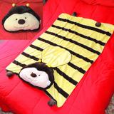 Edredom Bichinho Plush Enxoval Bebê Manta Infantil Cobertor