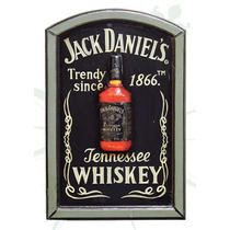 Placa Vintage Alto Relevo Jack Daniels Oldway 60x40cm