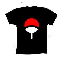 Camiseta Naruto Sasuke Uchiha - Camisa Simbolo
