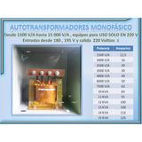 Autotransformadores Elevadores Voltaje Monofasico Y Bifasico