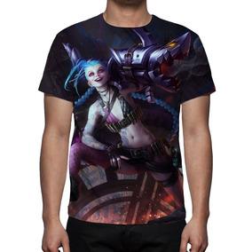 Camisa Camiseta League Of Legends Jinx O Gatilho Desenfreado