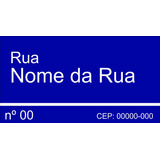 Placa De Rua/avenida/endereço Personalizada 30x40 Cm - 1 Cor