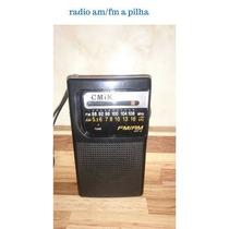 Radio Am Fm Portátil Apilha Com Antena P001