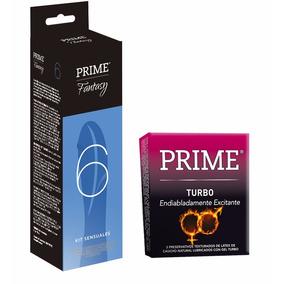 Combo Prime Vibrador 7 Velocidades + Preservativos Turbo X3