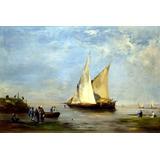 Barco A Vela Rio Nilo África Pintor Fromentin Tela Repro