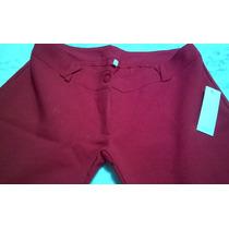 Pantalon Capri Oxford De Vestir - Con Tachas - T. 38/40