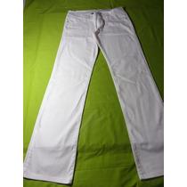 Jeans Blanco Tiro Bajo Marca Dimple