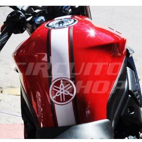 Adesivo Protetor Faixa Tripla Tanque Tuning Moto Yamaha Xj6