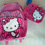 Hello Kitty Morral Maleta Grand Y Lonchera Escolar Import Or