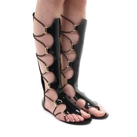 Sandália Orcade Rasteira Gladiadora | Zariff