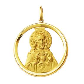 Medalha Coração De Jesus Ouro 18k 5gr Grande-com Certificado