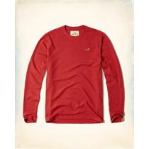Hollister Camiseta Cuadros Relieve Rojo Tallal S Originales