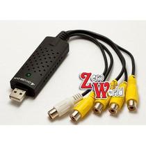 Easycap Tarjeta Capturadora Usb Rca Audio Video 4 Canales