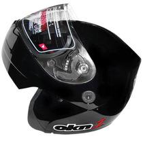 Casco Rebatible Okinoi Negro Clasico 2014 En Freeway Motos!
