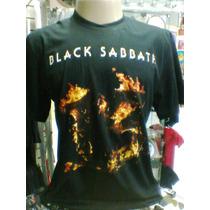 Camiseta Black Sabbath 13 Tour Latin America 2013 Tamanho G
