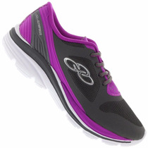Zapatillas Olympikus Modelo Running Stretch Gris/violeta