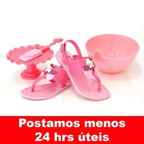 Promoção Sandália Infantil Hello Kitty 21375 Com Sweety Kit
