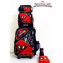 Kit Mochila Rodinhas Homem Aranha - Spider Man Original