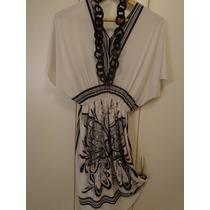 Exclusiva Camisola-vestido En Seda Fria