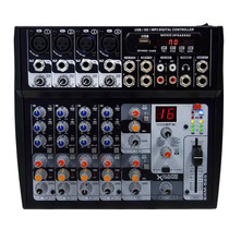 Consola Mixer 8 Canales Usb Mp3 Efec Digitales In Mic Y Pc