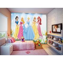 Papel De Parede Infantil Princesas Disney - M²