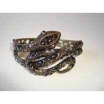 Pulseira Bracelete Metal Dourado Serpente Cobra Naja 3