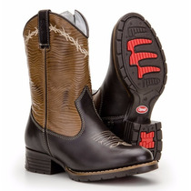 Bota Infantil Country Masculina Texana Couro Capelli Boots