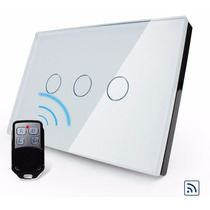 Interruptor Touch Screen 3 Vias Com Dimmer E Controle Remoto