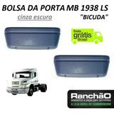 Bolsa Lateral Porta Caminhão Mb 1620 1938 Ls Cinza Escur 2pç