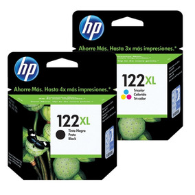 Kit 2 Cartuchos Hp 122xl Preto E Color Original