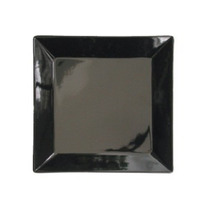 Plato Para Postre De Porcelana Negro 20 Cm Marca Oxford