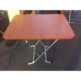 Mesa Plegable Cafe 70x90 Melamina Metal