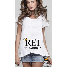Blusa Camiseta Gestante Gravida Rei Na Barriga Bebê Fashion