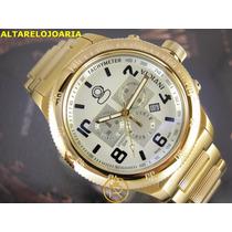 Relógio Invicta Russian Diver Cronógrafo Plaque Ouro 15473