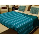 Cobertor Popular Solteiro Listrado Doação -direto Da Fabrica