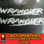 Calcomania Jeep Wrangler 24 Pulgadas Capo Original
