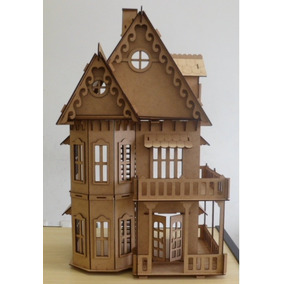 Casa Mdf P Bonecas Polly Grátis 24 Móveis - Pronta Entrega