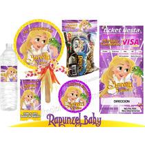 Invitaciones Infantiles Rapunzel Enredados Kit Imprimible