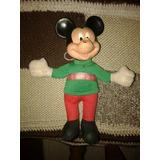 Antiguo Muñeco De Mickey Cabeza De Goma Y Cuerpo De Tela