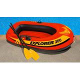 Bote Inflable Intex Explorer 200 + 2 Remo + Bomba. Sellado