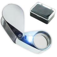 Lupa De Vidrio Óptico Con Luz Led 20x 21mm Geología Joyería