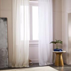 cortinas a medida de micro lino natural efvo 20off - Cortinas Lino
