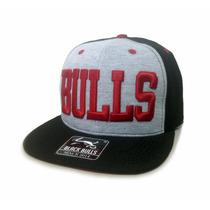 Boné Infantil Aba Reta Black Bulls Excelente Qualidade D-16