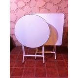 Mesa Plegable Blanca 83x83 Melamina Metal