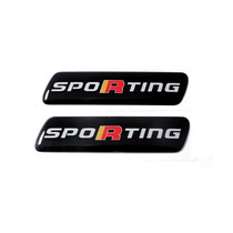 Par Emblema Resinado Sporting Fiat Punto Palio Novo Uno