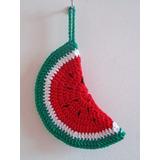 Agarradera Apoya Pava Sandía Crochet Cocina Decoración