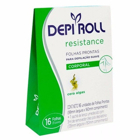 Folhas Prontas Depi Roll Resistance Algas Corporal C/ 16