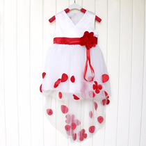 Vestido Criança Lindo Princesa Luxo Vermelho Infantil